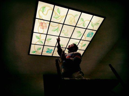 lucernario in vetro